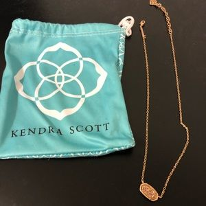 Kendra Scott Elisa rose gold drussy necklace